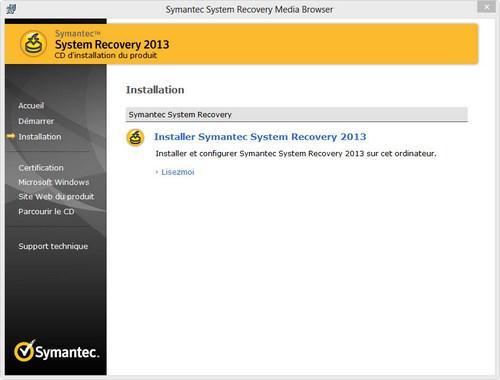 Symantec System Recovery 2013 v11.0.1.47662 [FR] [Multi]