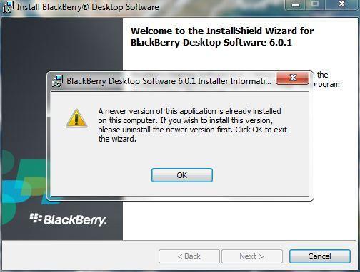 Desktop Software ERROR