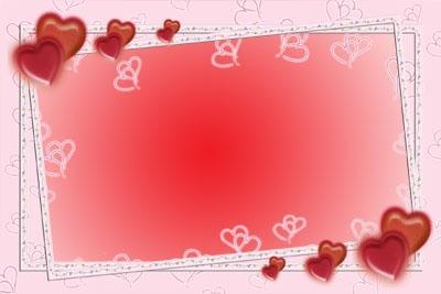 Рамка для фото - Сердечки