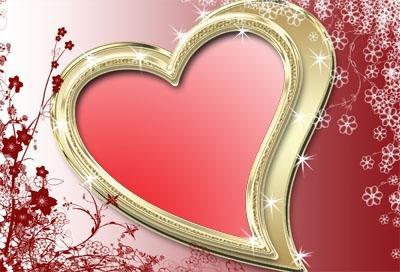 Рамка для фото - Ко дню Влюбленных.