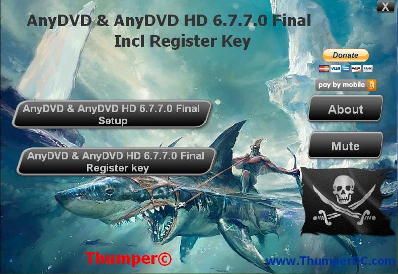 Download AnyDVD & AnyDVD HD 6.7.7.0 Final + Register key ( ThumperTM