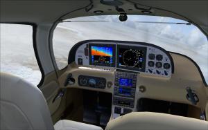 FSX - Eaglesoft Cirrus SR22 Turbo [Cream Leather VC Addon] (download